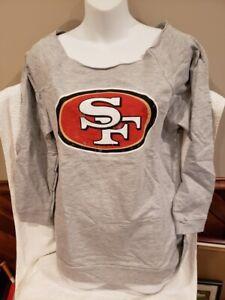 CUTE San Francisco 49ers Women's Md Majestic Grey LS Sweatshirt, NEW&NICE!!
