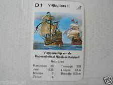 67-PIRATEN,PIRATES,D1 VRIJBUITERS II KAPER ADMIRAAL NICOLAAS KUIPHOFF VLAGGENSCH