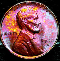 "1946 S Lincoln Wheat Penny Cent- ""Beautiful Toning"" SUPERB GEM HIGH GRADE #02"