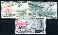 ST PIERRE et MIQUELON 1947 Yvert PA 18-20 * SATZ FLUGPOST (F4038