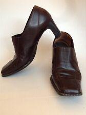 PAUL GREEN MUNCHEN HANDMADE Dark Brown Leather Booties Pumps Heels US 6.5 UK 4