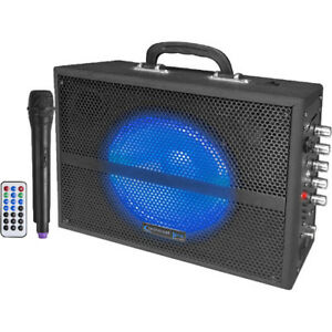 """Technical Pro WASP520LBT 6.5"""" Rechargeable Battery Powered Bluetooth PA System w"""