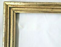"Antique Fits 8 X 21"" Lemon Gold Gilt Picture Frame Wood Gesso Fine Art Country"