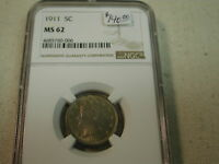 1911 5C Nickel MS62 NGC