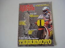 MOTOSPRINT 19/1982 PROVA TEST CIMATTI GRINGO G1 R 50
