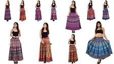 Indian Cotton Women Rapron Mandala Printed Long Skirt Wrap Around Skirt 5 PC Lot