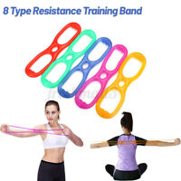 8 Type Sports Resistance Fitness Bands Elastic Stretch Yoga Gym Excercise Band