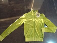 """NWT  Juicy Couture New & Genuine Ladies Small Green Velour Jacket & """"J"""" Pull"""