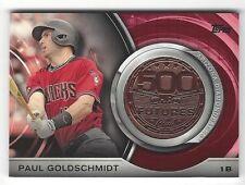 2016 Topps PAUL GOLDSCHMIDT 500 HR Futures Club Medallion Coin DIAMONDBACKS