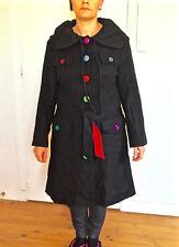 luxueux manteau coat laine cachemire noir MOSCHINO taille 42 i46 EXCELLENT ÉTAT