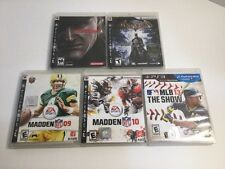 Playstation 3 PS3 Lot Of 5: Metal Gear Solid 4, Batman Arkham Asylum, MLB 13