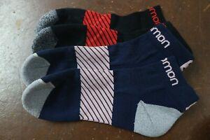 Salomon Speed 2 pack Running Socks Sport Socks  4-7 Navy & Black
