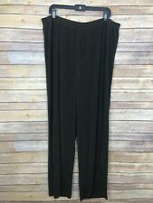 Maggie Barnes Womens 2X Wide Leg Stretch Knit Pant Elastic Waist Pull On Comfort