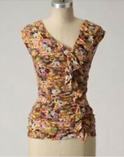 WESTON WEAR Anthropologie Galaxy Fold TOP-Jersey-Floral Print-Size Small