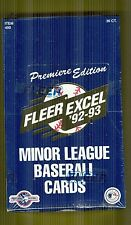 92-93 Fleer  Excel Minor League Rare Baseball Unopened Sealed Box Jeter Rookie