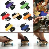 MINI Wooden Complete Fingerboard Finger Skate Board Grit Box Foam Tape Wood