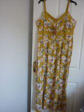 MANTARAY YELLOW MULTI FLORAL STRAPPY MAXI DRESS. UK 18, EUR 44-46, US 14. BNWT