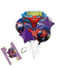 Fünf Ballon Spiderman Geburtstag Bukett Folienballons Kinder Party Stern Ballon