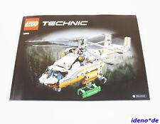 LEGO Technic Technik Bauanleitung 42052 Schwerlast Hubschrauber Neu