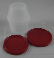 Tupperware D 01 tracassin uno duo 120 + 150 ML blanc/rouge NOUVEAU OVP