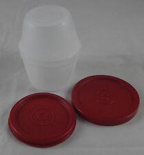 Tupperware D 01 Rumpelstilzchen Uno Duo 120 + 150 ml Weiß / Rot Neu OVP