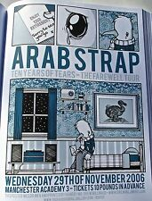 Arab Strap Band Mini Concert Poster Reprint for Manchester 2006 Gig 14x10