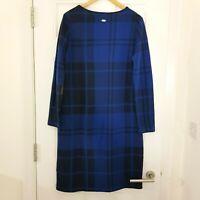 BARBOUR Ladies Blue Check Warm Tartan Orkney Dress Size UK 14 RRP £109!