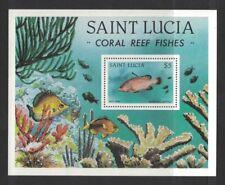 1983 Saint Lucia Fish SG 650 MS Muh