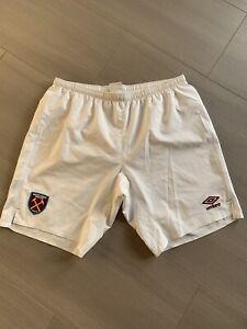 Umbro West Ham United Shorts Gr. XL Weiß 16/17
