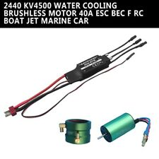 Water Cooling Brushless Motor 40A ESC Set for RC Boat Jet Marine Car 2440 KV4500
