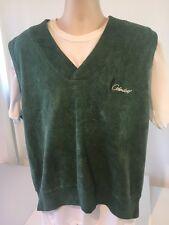 Fairway Blues Green Combed Cotton Golf Embroidered Cedardeep Logo Vest sz L