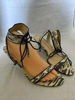 Chinese Laundry Womens Size 9.5 M Ravish Zebra Kitten Heel Open Toe Sandal Shoes