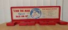 1964 STAN MUSIAL ST. LOUIS CARDINALS HAND SIGNED BAT RACK WITH STATS JSA LOA