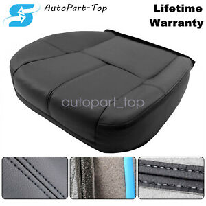 For 2007-14 Chevy Silverado 1500 2500 HD Driver Bottom Leather Seat Cover Black