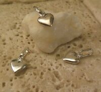 Sterling Silver 925 ITALY Puffy HEART CHARM Pendant Great Gift Idea!
