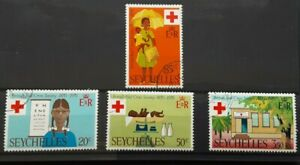 Seychelles 1970 - British Red  Cross set of 4 used stamps SG284 - 287