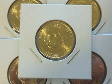 5 Coin Set All 2007 D George Washington Presidential Golden Dollar BU Gold $1
