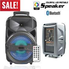 "8"" BT Party Bluetooth Speaker Portable for Karaoke W/ LED DJ Light Stereo Loud"