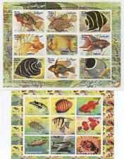 PAIR OF TROPICAL FISH SEA LIFE AFGHANISTAN SOMALIA MNH STAMP SHEETLETS