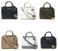 Michael Kors Savannah Small Satchel Leather Crossbody Handbag Leather