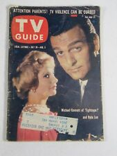 TV Guide Magazine July 30-August 5, 1960- Michael Connors, Ruta Lee Vintage