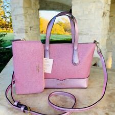 NWT Kate Spade New York Lola Glitter Tote Shoulder Bag Rose PInk /Wallet options