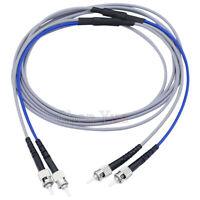 20M Indoor Armored Fiber Patch Cord Duplex MM ST-ST OM2 50/125 Fiber Optic Cable