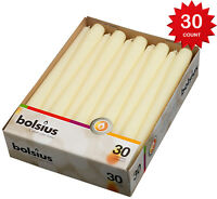 Bolsius Ivory Taper Candles 30 in a box 10 Inch Taper Candle, burns very nice