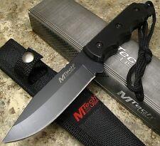 Lot de 2 Couteaux de Survie Mtech Black Acier 440 Etui Nylon MT2035BK