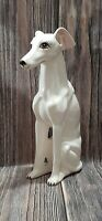 VTG Greyhound Whippet Dog Ceramic Figure Figurine Statue 13.5″ Decor Mid Century