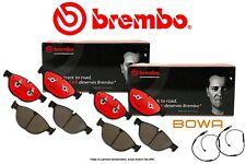 [FRONT+REAR] BREMBO NAO Premium Ceramic Brake Pads & Bowa Sensor X5M X6M BB96107