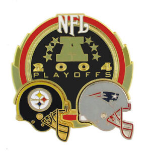 2004 NFL AFC Conference Championship Dueling Helmets Pin - Steers vs Patriots