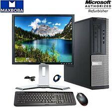 """Dell Desktop Computer Intel Core 2 Duo/ i3 8Gb 2Tb Hd Pc 17"""" 19"""" Lcd Wifi Win 10"""