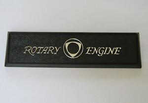 MAZDA Rx3 ROTARY ENGINE Dash badge Plate Panel Garnish Brand NEW